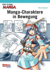 Manga-Charaktere in Bewegung