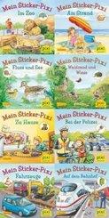 Pixi Bücher: Pixis neue Sticker-Bücher, 8 Hefte; Serie.234