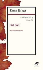 Sämtliche Werke: Ad hoc; Abt.2. Essays