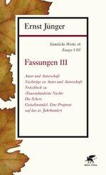 Sämtliche Werke: Fassungen; Abt.2. Essays - Tl.3