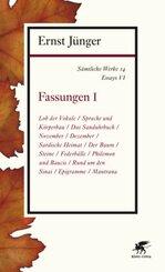 Sämtliche Werke: Fassungen; Abt.2. Essays - Tl.1