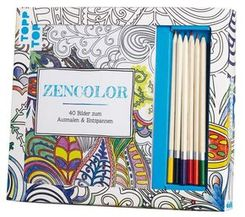 Kreativ-Set Zencolor, m. 6 Buntstiften
