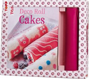 Kreativ-Set Deco Roll Cakes, m. Silikonmatte in Pink