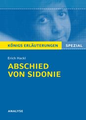 """Erich Hackl """"Abschied von Sidonie"""""""