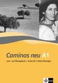 Caminos neu: Lern-und Übungsbuch A1, m. Audio-CD u. Online-Übungen; Tl.1