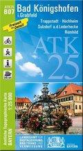 Amtliche Topographische Karte Bayern Bad Königshofen