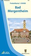 Topographische Freizeitkarte Baden-Württemberg Bad Mergentheim