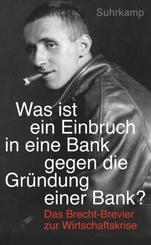 »Was ist ein Einbruch in eine Bank gegen die Gründung einer Bank?«