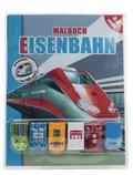 Malbuch Eisenbahn, m. 6 Rückzieh-Spielfahrzeugen