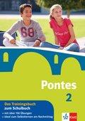 Pontes, Latein für Gymnasien: Das Trainingsbuch zum Schulbuch; Bd.2