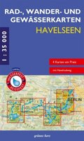 Rad-, Wander- & Gewässerkarten-Set: Havelseen, 4 Bl.