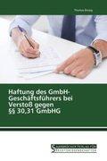 Haftung des GmbH- Geschäftsführers bei Verstoß gegen 30,31 GmbHG