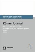 Kölner Journal, Wissenschaftliches Forum für Sozialwirtschaft und Sozialmanagement - Nr.2/2014 und Nr.1/2015