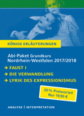Abi-Paket Grundkurs Nordrhein-Westfalen 2017/2018 - Königs Erläuterungen, 3 Bde.