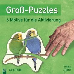 """Groß-Puzzles: 6 Motive für die Aktivierung von Demenzkranken, Thema """"Tiere"""""""