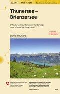 Wanderkarte der Schweiz Thunersee Brienzersee