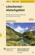 Landeskarte der Schweiz Lötschental, Aletschgebiet