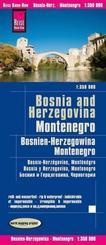 Reise Know-How Landkarte Bosnien-Herzegowina, Montenegro / Bosnia and Herzegovina, Montenegro (1:350.000)