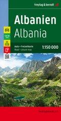 Freytag & Berndt Autokarte Albanien, Top 10 Tips 1:150.000; Albania / Shqiperia / Albanie