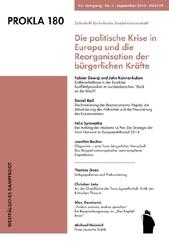 Prokla: Die politische Krise in Europa und die Reorganisation der bürgerlichen Krafte; 180