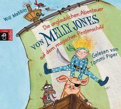 Die unglaublichen Abenteuer von Melly Jones auf dem magischen Piratenschiff, 4 Audio-CDs