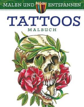 Malen und entspannen: Tattoos - Malbuch für Erwachsene