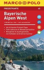 MARCO POLO Freizeitkarte Bayerische Alpen West 1:100 000