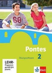 Pontes, Latein für Gymnasien: Übungssoftware, CD-ROM; Bd.2