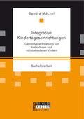 Integrative Kindertageseinrichtungen: Gemeinsame Erziehung von behinderten und nichtbehinderten Kindern