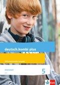 deutsch.kombi plus. Differenzierende Ausgabe ab 2015: 5. Schuljahr, Arbeitsheft