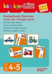 bambinoLÜK-Übungshefte: Kunterbunte Dominos - Finde den richtigen Stein; 108
