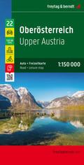 Freytag & Berndt Auto + Freizeitkarte Oberösterreich; Upper Austria