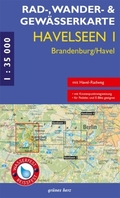 Rad-, Wander- & Gewässerkarte Havelseen - Bl.1