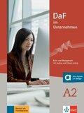 DaF im Unternehmen: Kurs- und Übungsbuch mit Audios und Filmen online; Bd.A2