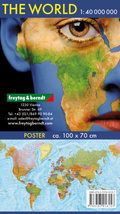 Freytag & Berndt Poster, Wandkarte: The World, international, Poster 1:40.000.000, Plano in Rolle