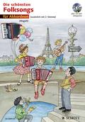 Die schönsten Folksongs, für 1-2 Akkordeons, m. Audio-CD