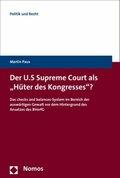 """Der U.S. Supreme Court als """"Hüter des Kongresses""""?"""