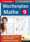 Wochenplan Mathe, 9. Schuljahr