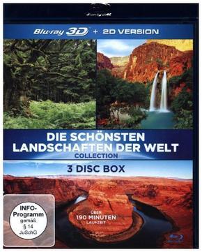Die schönsten Landschaften der Welt 3D, 3 Blu-rays