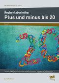 Rechenlabyrinthe: Plus und minus bis 20