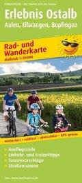 PublicPress Rad- und Wanderkarte Erlebnis Ostalb, Aalen, Ellwangen, Bopfingen