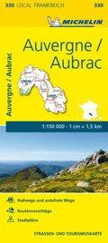 Michelin Karte Auvergne, Aubrac; Cantal, Lozère
