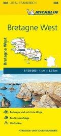 Michelin Karte Bretagne West; Finistere, Morbihan