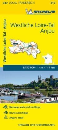 Michelin Karte Westliche Loire-Tal, Anjou; Indre-et-Loire, Maine-et-Loire