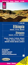 Reise Know-How Landkarte Äthiopien, Somalia, Eritrea, Dschibuti (1:1.800.000); Ethopia, Somalia, Eritrea, Djibouti / Éth