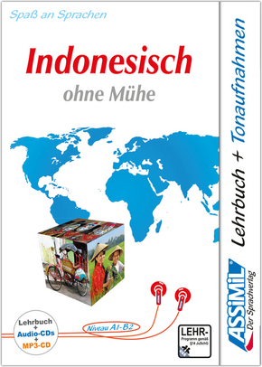 ASSiMiL Indonesisch ohne Mühe: Lehrbuch + 4 Audio-CDs + 1 mp3-CD