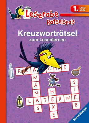 Kreuzworträtsel zum Lesenlernen (lila)