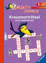 Kreuzworträtsel zum Lesenlernen (1. Lesestufe), lila; .