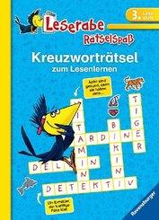 Kreuzworträtsel zum Lesenlernen - Leserabe, 3. Lesestufe