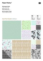 """Motivpapier-Block """"Graphic Hotfoil"""""""